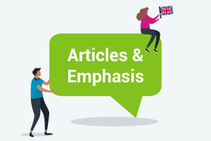 Cours d'anglais-Articles et accent (Upper-Intermediate Level)
