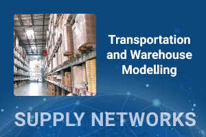 Trasporto e deposito magazzino in rete Supply Chain Network