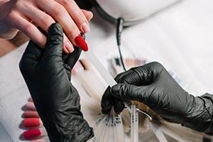 Manicure Treatment and Nail Polish Application