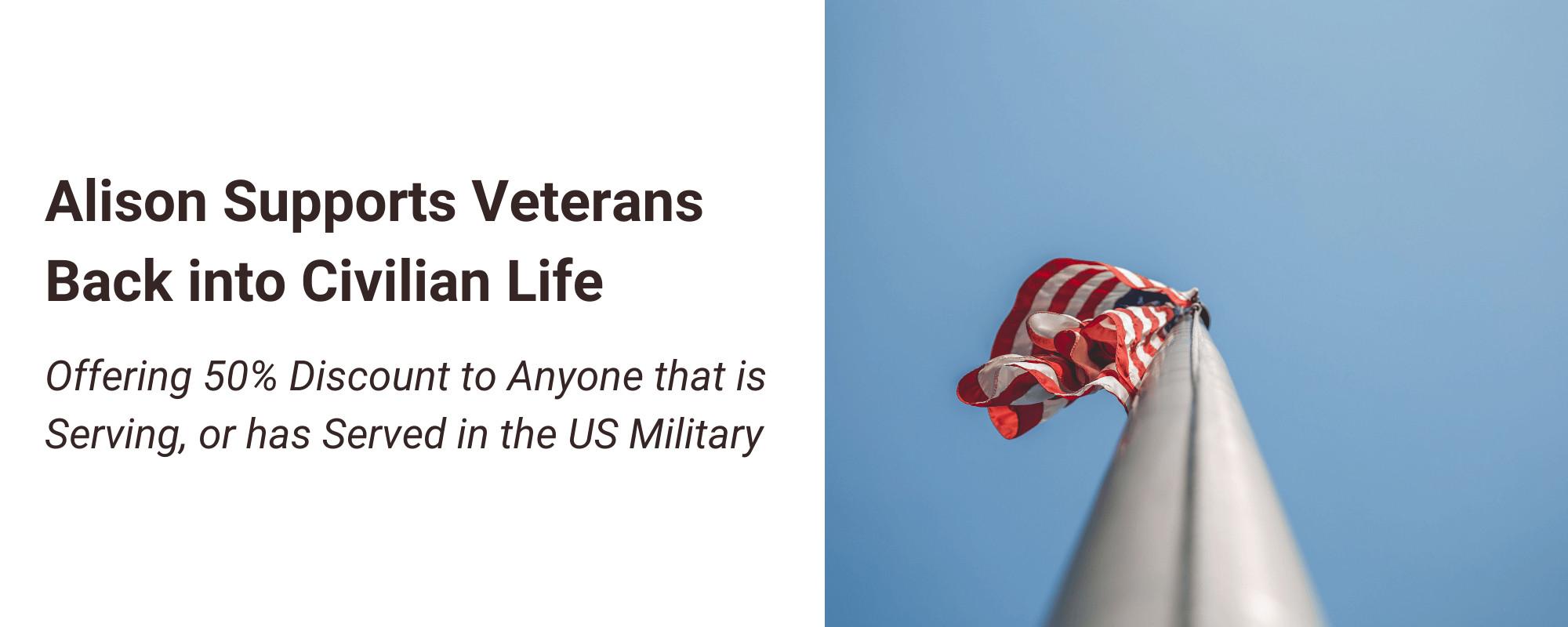 Alison Supports Veterans Back into Civilian Life